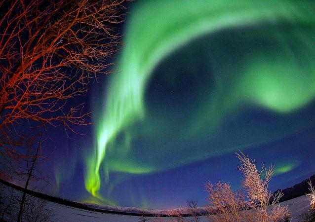Zorza polarna na Alasce