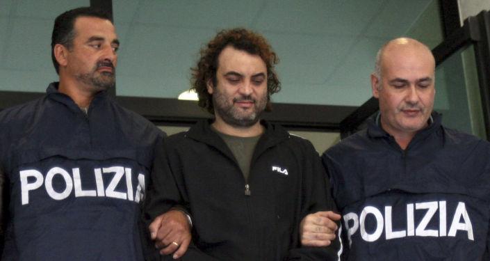 Mafiozo Antonio Pelle po aresztowaniu