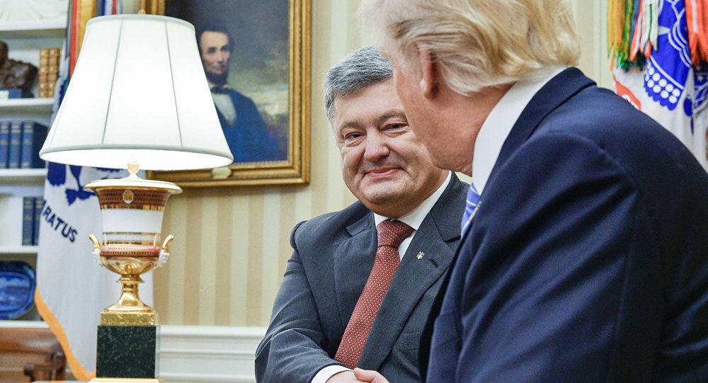 Petro Poroszenko i Donald Trump