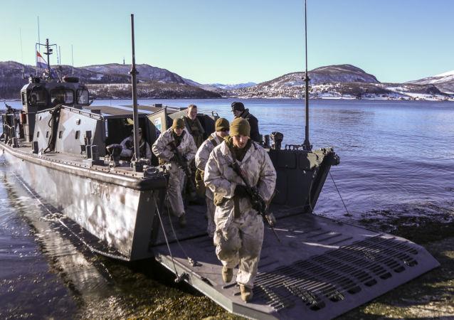 Amerykańscy marines podczas ćwiczeń w Norwegii. Zdjęcie archiwalne