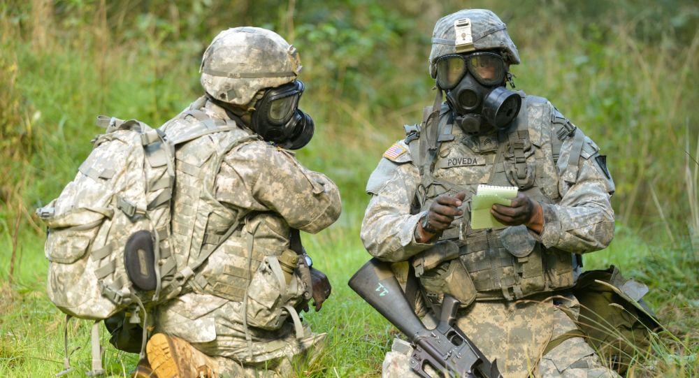 Amerykańscy żołnierze w czasie ćwiczeń NATO w Europie