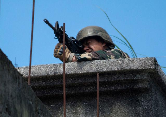 Żołnierz na Filipinach