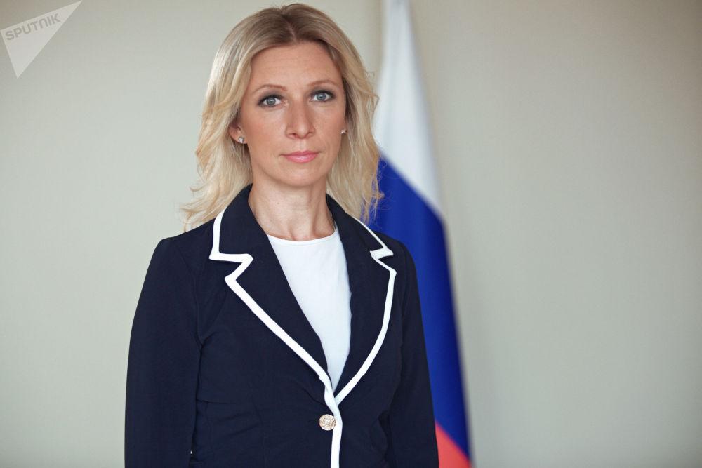 Szefowa Departamentu Informacji i Prasy MSZ FR Maria Zacharowa.