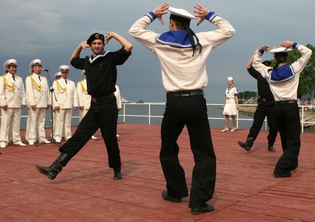 Artyści Zespołu Pieśni i Tańca Floty Bałtyckiej