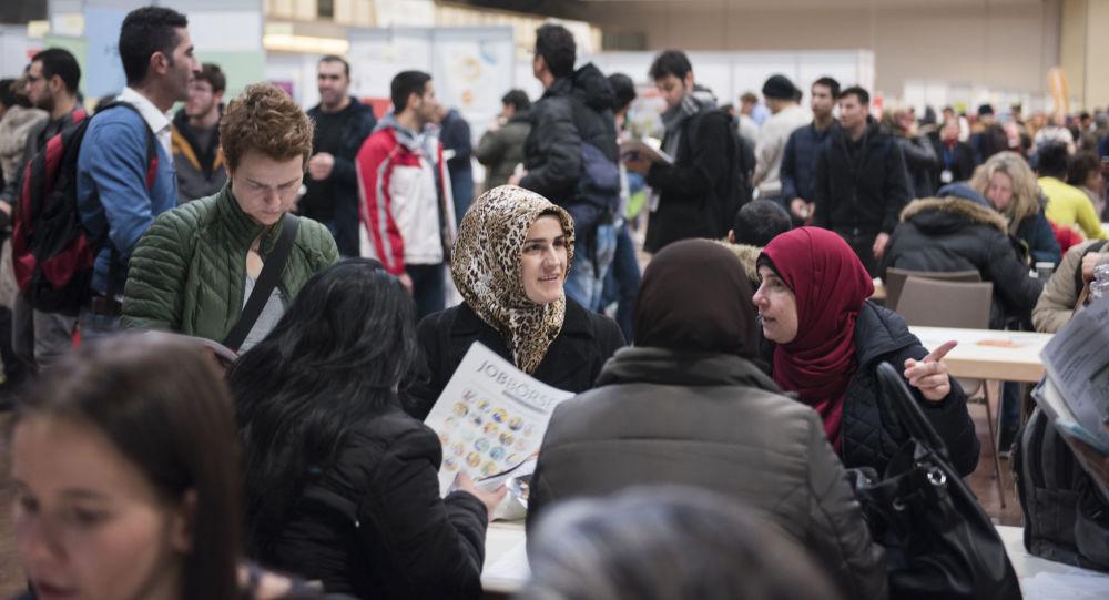 Imigranci na targach w Niemczech