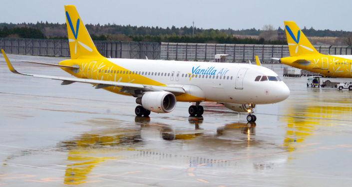 Samolot japońskich linii lotniczych Vanilla air