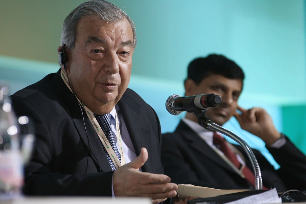 Prezes Izby Przemysłowo-Handlowej FR Jewgienij Primakow na Międzynarodowym Forum Gospodarczym - Forum Rosja