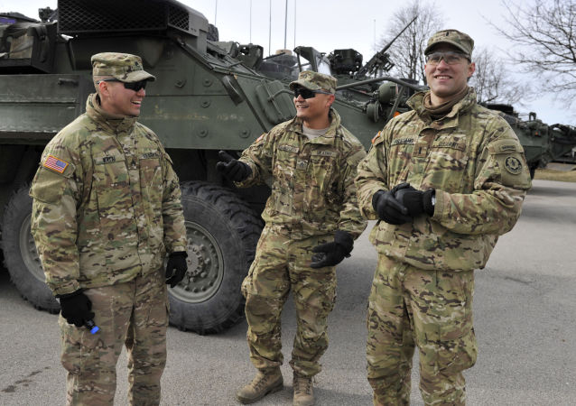 Żołnierze NATO podczas manewrów na Łotwie