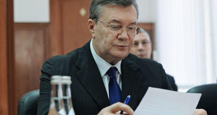Były prezydent Ukrainy Wiktor Janukowycz w Rostowskim Sądzie Obwodowym