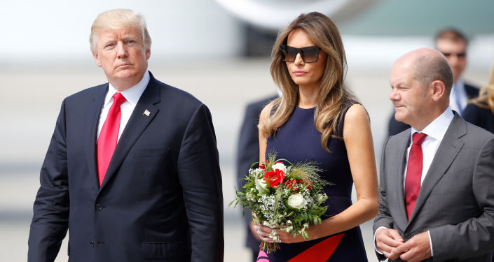 Prezydent USA Donald Trump z żoną