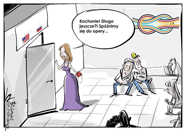 Melania próbowała przerwać spotkanie Putin-Trump