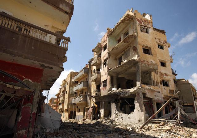 Ruiny w libijskim Bengazi