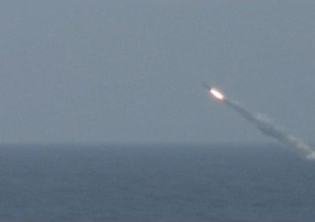 Okręt podwodny Tomsk wystrzelił pocisk manewrujący Granit