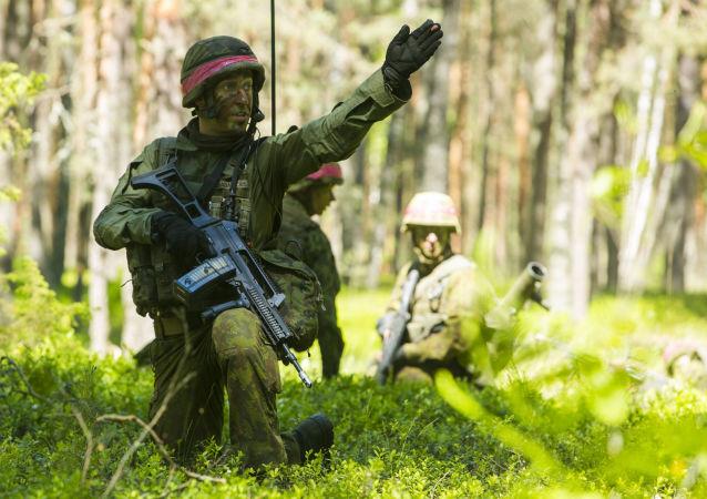 Ćwiczeń wojskowe NATO Saber Strike na Litwie. Zdjęcie archiwalne