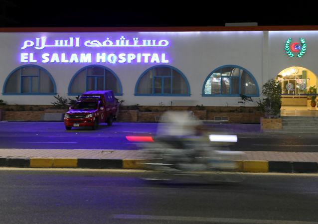 Szpital, do którego przewieziono rannych w wyniku ataku nożownika w Hurghadzie