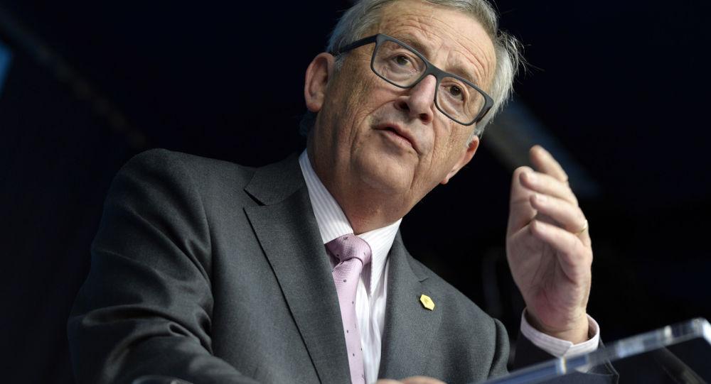 Przewodniczący Komisji Europejskiej Jean-Claude Juncker na konferencji prasowej