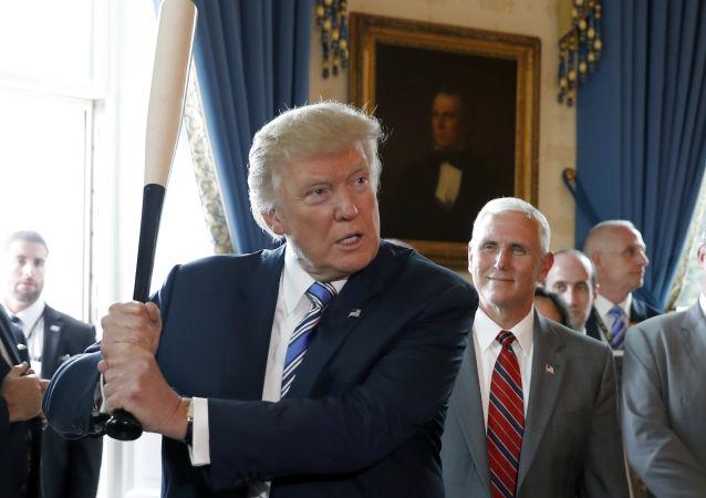 Prezydent USA Donald Trump w Białym Domu w Waszyngtonie