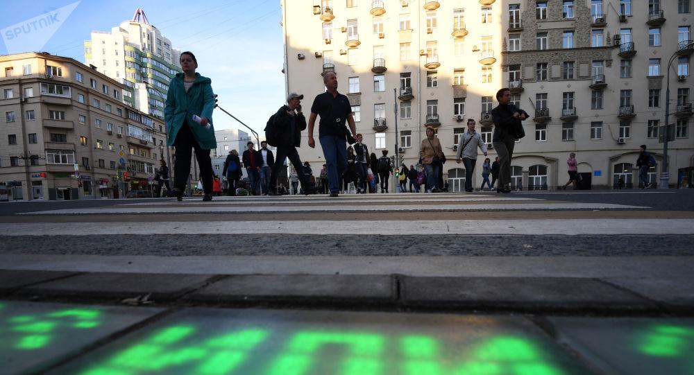 Projekt Światła pod nogami w Moskwie