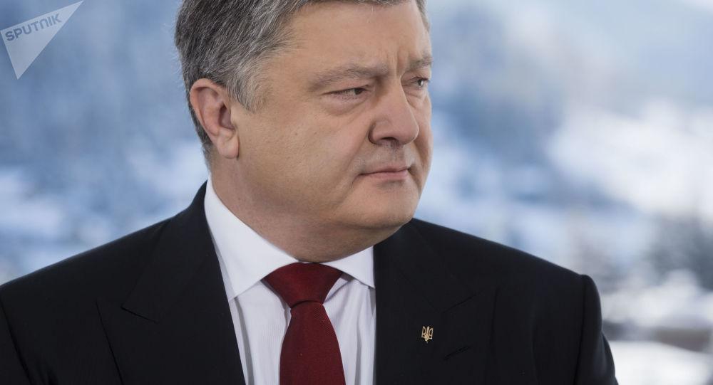 Prezydent Ukrainy Petro Poroszenko podczas wizyty w Davos