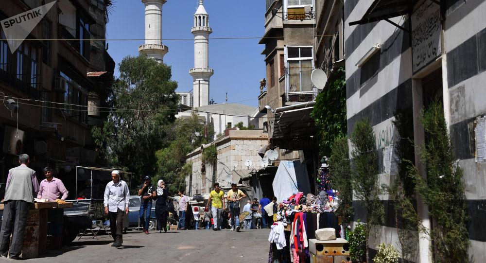 Dzielnica Damaszku na górze Qasioun