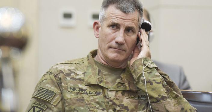 Dowódca amerykańskich wojsk w Afganistanie, generał John Nicholson