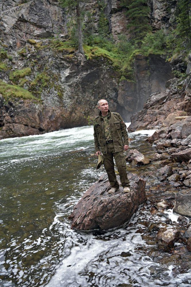 Prezydent Rosji na urlopie w Republice Tuwa