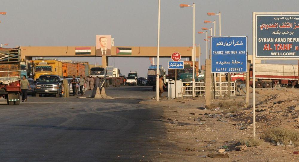 Przejście graniczne w rejonie At-Tanf na granicy Syrii i Iraku. Zdjęcie archiwalne