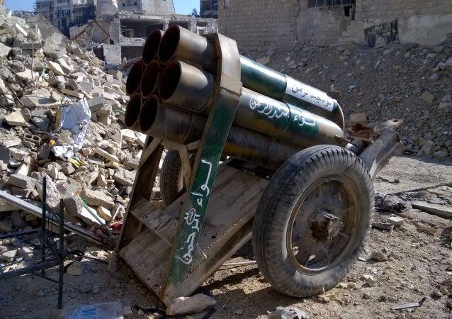 Broń terrorystów w wyzwolonym Aleppo
