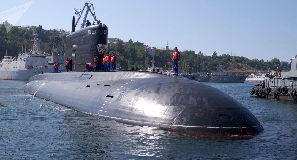 Nowy okręt podwodny Krasnodar w Sewastopolu