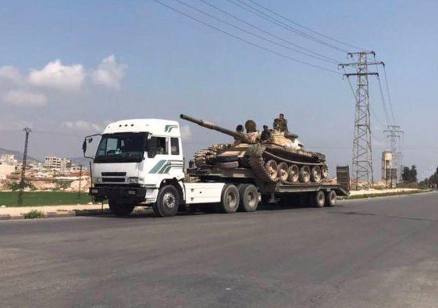 Syryjscy żołnierze na północy prowincji Homs