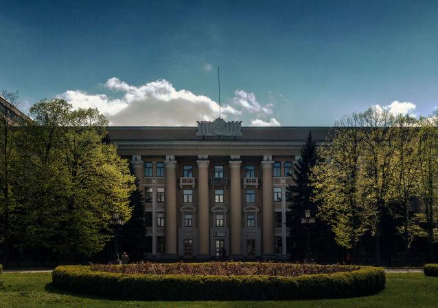 Siedziba zakładu Jużmasz w Dnieprze