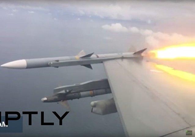 Pilot F-16 pokazał, jak zestrzelić drona za pomocą rakiety