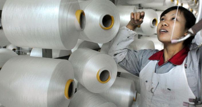 Fabryka tekstyliów w Chinach