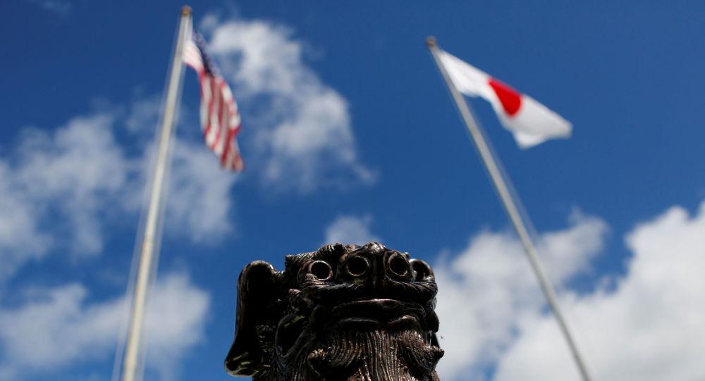 Flagi Japonii i USA
