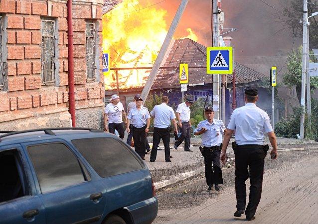 Pożar w Rostowie nad Donem