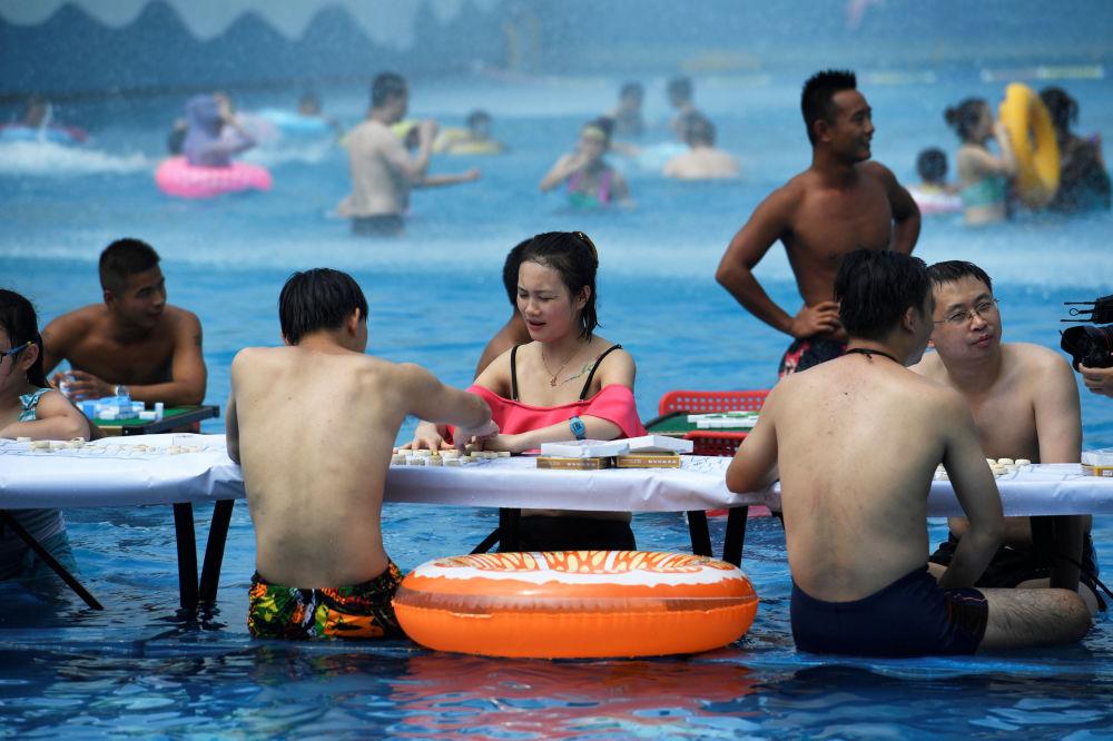 Gry w parku wodnym w Chongqing