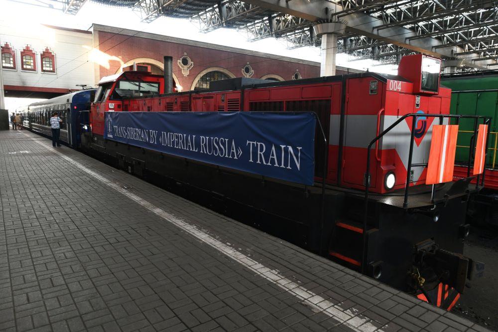 Pociąg turystyczny Carska Rosja wyruszający w podróż z Moskwy do Pekinu