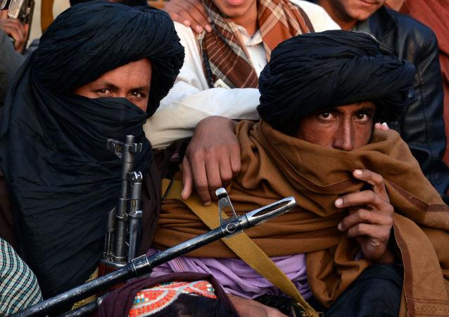Członkowie organizacji Taliban w prowincji Farah, Afganistan. Zdjęcie archiwalne