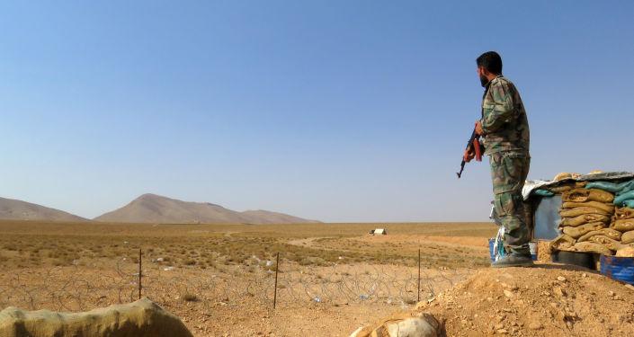 Żołnierz syryjskich wojsk rządowych