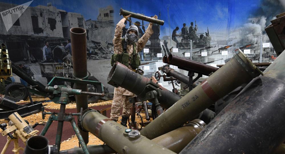 Broń przechwycona terrorystom w syryjskiej prowincji Aleppo