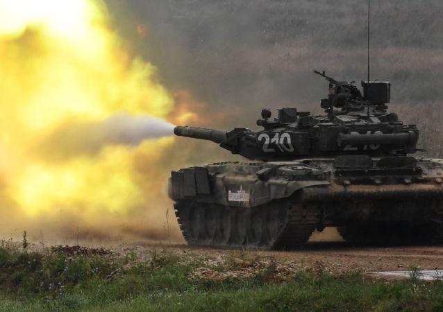 Czołg T-90 na międzynarodowym forum Armia-2017