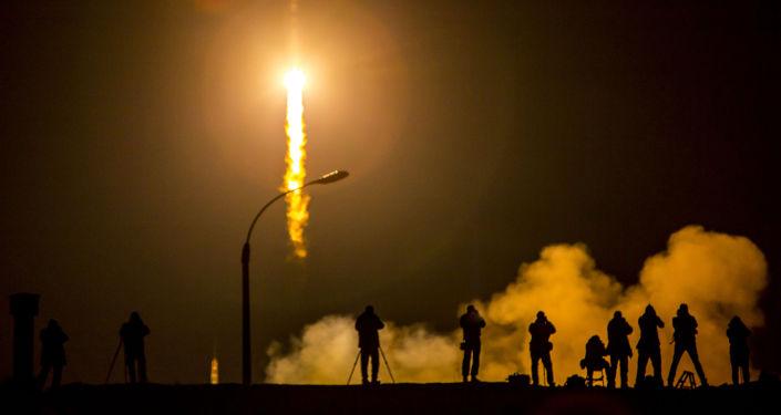 Start statku kosmicznego Sojuz z kosmodromu Bajkonur
