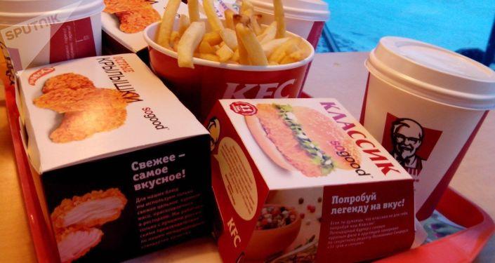 Sieć fast foodów KFC. Zdjęcie archiwalne