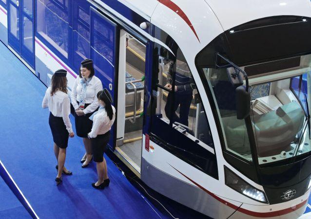 Tramwaj Witiaz na targach EkspoCityTrans w Moskwie