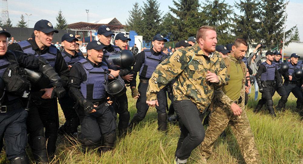 Na granicy z Polską doszło do starć między zwolennikami i przeciwnikami Michaiła Saakaszwilego.