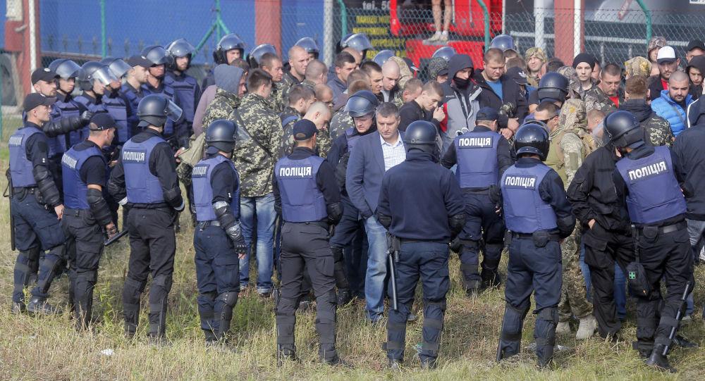 Na granicy z Polską doszło do starć między zwolennikami i przeciwnikami Michaiła Saakaszwilego