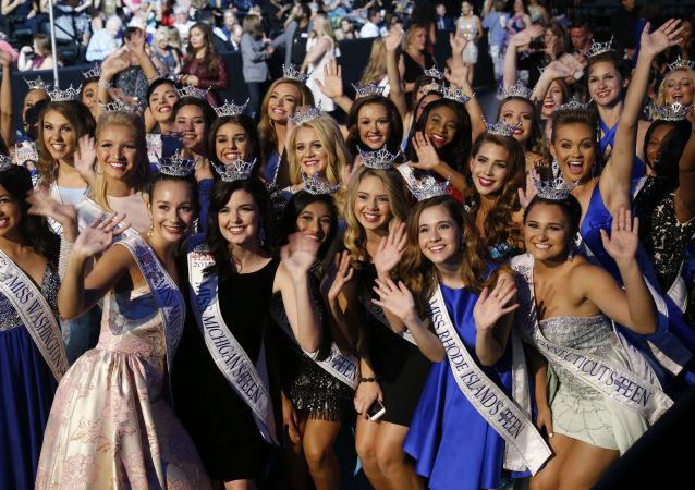 Uczestniczki konkursu piękności Miss America 2018
