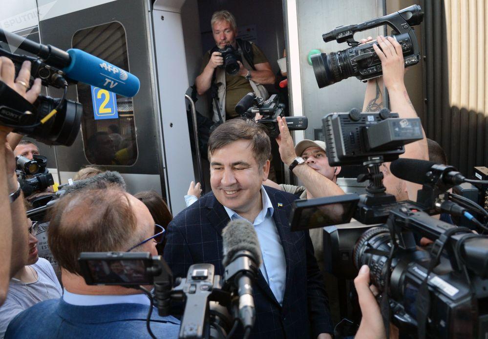 Były prezydent Gruzji Michaił Saakaszwili w Przemyślu