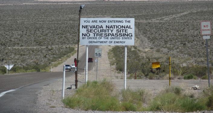 Wjazd na poligon wojskowy w Nevadzie
