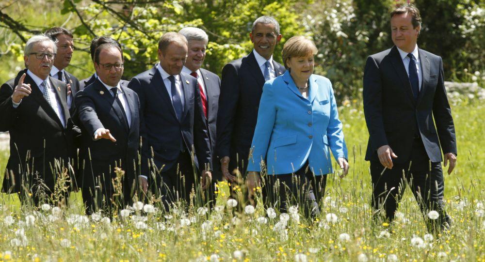 Uczestnicy szczytu G7